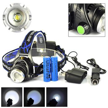 Для рыбалки Camping1600 Lumens 3 режим нью-cree XM-L T6 из светодиодов глава факел ...