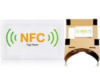 Google Cardboard Google Glass Automatic Trigger/Close Application NFC Smart Tag (White)