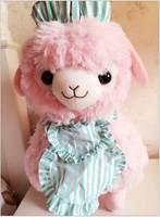 Children Baby plush toys sheep cute plush stuffed doll colorful alpaca gift for christmas 42cm free shipping