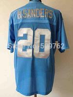 detriot 20 Barry Sanders jersey Barry sanders football jersey american football throwback jersey Retired Player Vintage Jersey