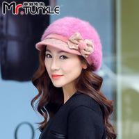 DG1504 Guo hat spot winter fashionable bow hair artist cap fashion cap series