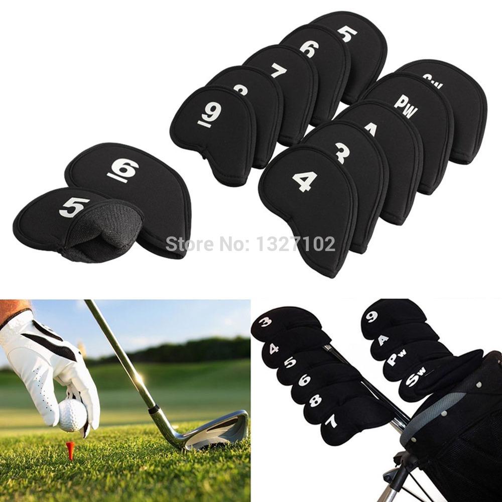 Black Neoprene Golf Head Cover Club Iron Putter Head Protector Set MTY3(China (Mainland))