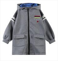 LOOKBOOK New sale! Harajuku fashionable Embroidery striped warm hooded jacket free shipping