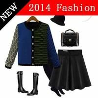 2014 fashion winter casual long sleeve cardigans knitted cotton women sweater desigual knitwear hot sale woman cardigan 1026LX
