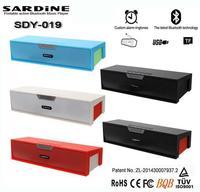 Original Sardine HIFI Stereo Bluetooth Speaker with alarm clock FM Radio wireless USb Amplifier Stereo Sound Box with microphone