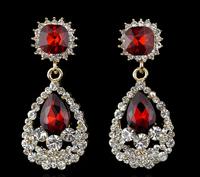 Charm Elegant Teardrop Shape Swiss Cubic Zirconia Diamond Gold Filled Plated Bridal Earrings for Women Sexy Lady Party Jewelry