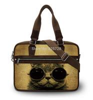 Cool Sunglasses cat high quality shoulder handbag 15 15.6 inch laptop bag women men casual bags notebook briefcase Free Shipping