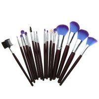 New Fashion Professional Cosmetic Make Up Sets Brushes Tools Kit Purple Leather Case 16 PCS Makeup Brushes