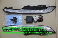 High Quality E4 Emark Led Daytime Running Light Fog Lamp DRL For VW Volkswagen Golf VII MK7 2012 Free Shipping