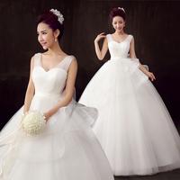 2015 Special Offer Princess Wedding Dress The Wedding Dress New Winter Korean Shoulders Qi Paragraph Show Thin Big Code Custom