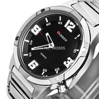 NEW Full Steel CURREN Men Watches Male Clock Military Watch Men Full Steel Watch Men Quartz Sports Watches Men Wristwatches