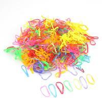 300pcs Ties Braids Plaits Rubber Hairband Rope Ponytail Holder Elastic Hair Band  # M01091