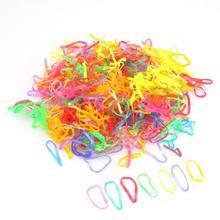 300pcs Ties Braids Plaits Rubber Hairband Rope Ponytail Holder Elastic Hair Band # M01091(China (Mainland))