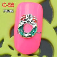 c-58 new christmas 30pcs 3D Shiny Crystal Rhinestone Alloy Design Nail Art Glitters Decoration free shipping