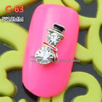 c-63 wholesale 30pcs 3D christmas  Alloy Nail Art Tips Glitters DIY Decorations nail art supplies free shipping