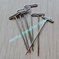 Nickel Finish T head  taxidermy pin