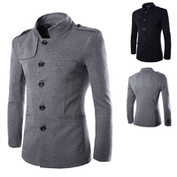 Hot sale free shipping men stand collar coat casual business jackets 2 colors M L XL XXL