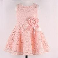 Summer New Girls Dress Bow Princess Dress Children Lace Dress Kids Noble Fairy dress