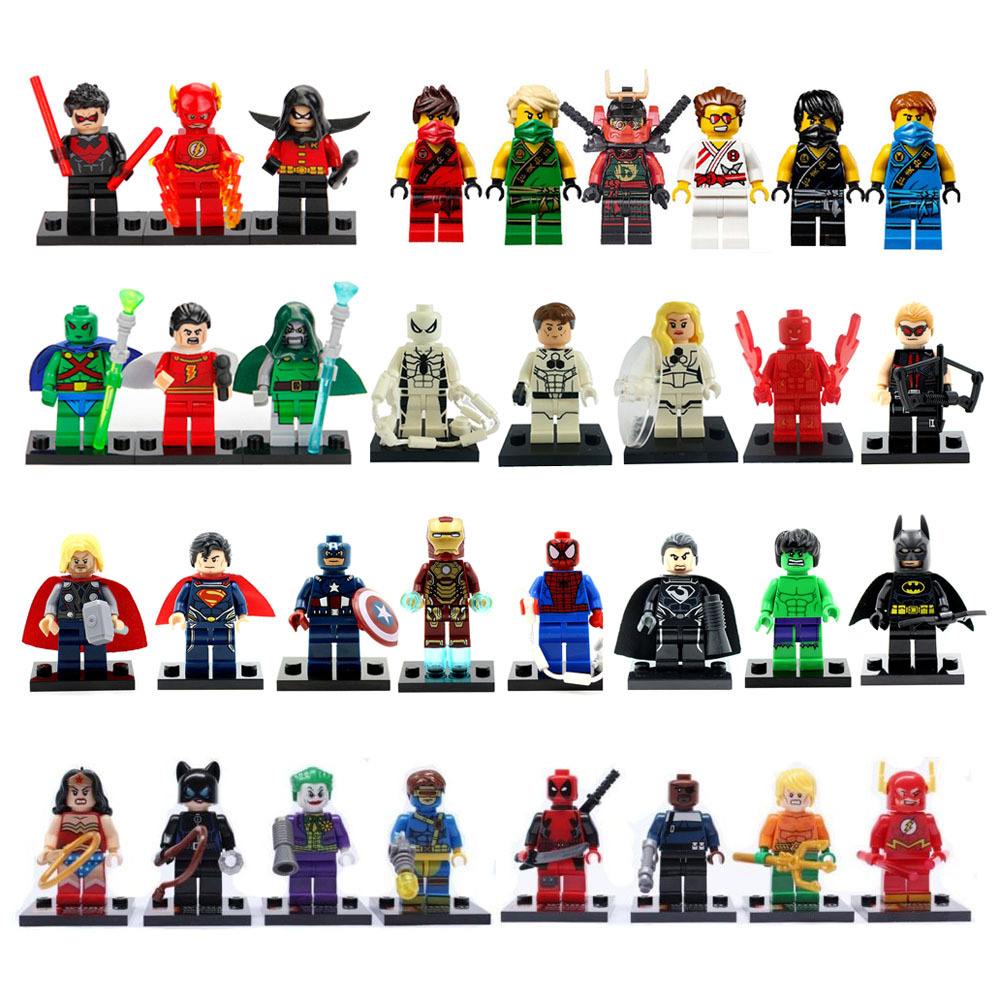 33Pcs Invisible Catwoman Iron Super Bat man Building Blocks Mini Figures Super Heroes Action Toys Figures Brick Christmas Gifts(China (Mainland))