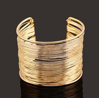 Big Size Bangle Fashion Jewelry Free Shipping Women/Men Gifts Trendy 18K Real Gold Plated Round Bracelets Bangles