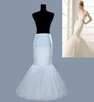 Hot sale White Mermaid Petticoats / Trumpet Slip 1 Hoop Bone Elastic Wedding Dress Crinoline Cheap Bridal Accessories