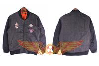 2014 Winter jacket men Military Air Force Flight fans bomber skull pattern for Harley motorcycle