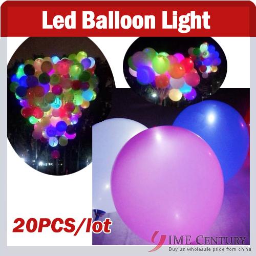 20pcs/lot led light Led ballon Latex balloons for Wedding Birthday,Christmas,Party Decoration,Colorful Flashing LED Light Lamp(China (Mainland))