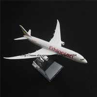 16.5cm Alloy Metal Air ETHIOPIAN Airlines Boeing 787 B787 Airways Plane Model Aircraft Airplane Model w Stand Aircraft Toy Gift