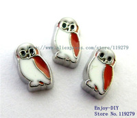Free shipping 10PCS owl Floating charms DIY Accessory Fit for Floating charms Locket FC280