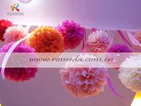 Mix Different Colors***30pcs  (8inch) 20cm Tissue Paper  Pom Poms Wedding Party Festival Decoration