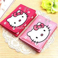 Fashional Brand Girl Hello Kitty Wallets Leather Long Bifold Clutch Wallet Long PU Card Horder Women Wallet Handbag Slim Purse