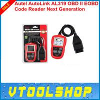 2014 Hot Sales Auto Diagnostic DIY Code Reader Autel AutoLink AL319 OBD2 Code Scan Tool AL-319 With Online Update+Free Shipping