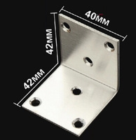 Stainless steel furniture bracket, right angle, Corner brackets, accessories fittings, hardware,