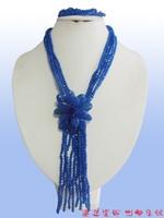 FFK881 // 2015 best design top AAA semi-precious stones Necklace + Bracelet