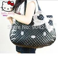 Brand Hello Kitty Bag Fashion Style Women Handbags Animal Prints Bow Bag PU Leather Shoulder Tote Bag Purse School bag