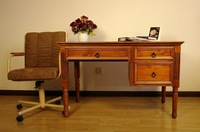 100% Solid Wood NZ Pine Desk / 1.2M/1.5M Writing Desk / Can be Customized / Study Furniture