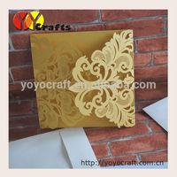 wedding sample invitation card lace printing