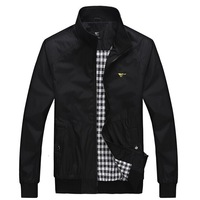 2014 spring and autumn slim stand collar jacket men's clothing male thin jacket outerwear