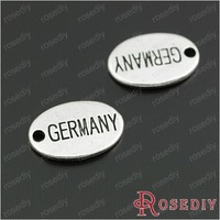 Wholesale 14*10mm Antique Silver Oval GERMANY Alloy Diy Jewelry Findings Accessories 30 pieces(JM6621)