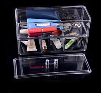 New Practical Clear Acrylic Crystal Cosmetic Organizer Makeup Case Holder make-up Storage Box