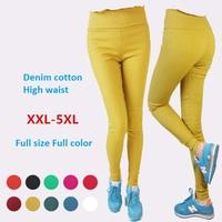 Super elastic denim cotton high waistpencil Leggings women winter pants Plus size leggings fat women pants bodycorn pants gift
