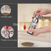 Stainless steel pepper Faucets grinder manual black pepper grinder Salt grinding seasoning bottle Small size