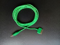 Cell phones Charged Data Lines Braided USB Cable Charging Line Iphone4s Data Line Cable Green