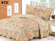 BS15#72 Free Shipping DHL 3 PCS Quilt Bedspread Blanket Cover Flower Romantic Floral Design Queen, King Size(China (Mainland))