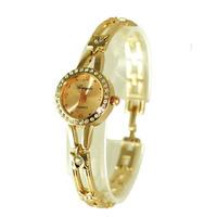 Free shipping luxury gold bracelet wrist watch,diamond quartz watch,good quality with cheap price J0033B