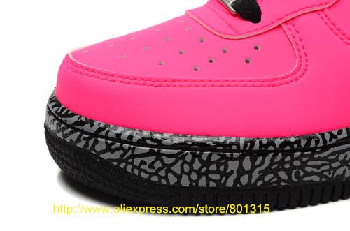 Прибыл скейтбординг женщины спортивная обувь и мужские высокая, Низкая узор обувь с розовый цемент воздушный