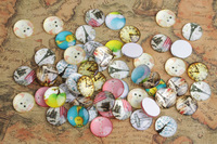 Free shipping 50PCS Round Mixed Photos Domed Glass Cabochon Cover 18mm #26679