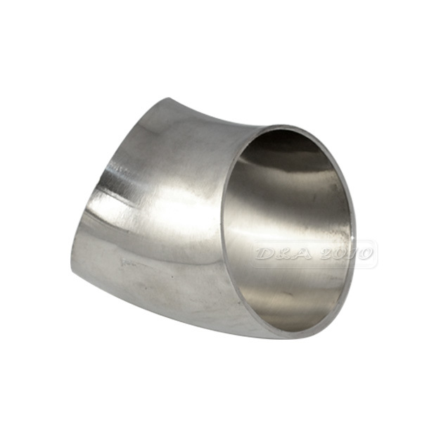 "2"" 51mm Sanitary Weld Elbow Pipe Fitting 45 Degree Stainless Steel SUS SS316good price(China (Mainland))"