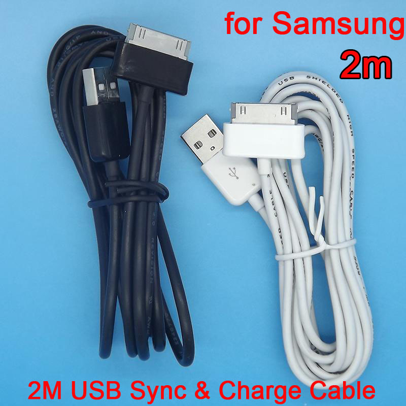 2M 6.6 ft USB Sync Charger Cable Adapter Charging Cabo Kabel for Samsung Galaxy Tab 2 10'' P1000 P7300 P7310 P7500 P6800 P7510(China (Mainland))
