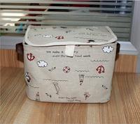 Zakka style  Jute storage basket portable PE waterproof household sundries storage box,Organization storage boxes & bins